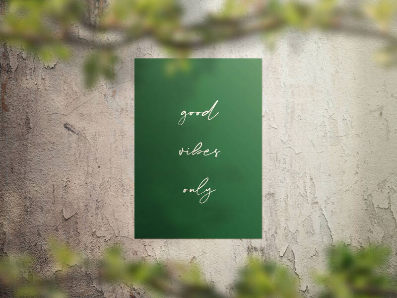 Tuinposter 'Good vibes only' 40 x 50 cm