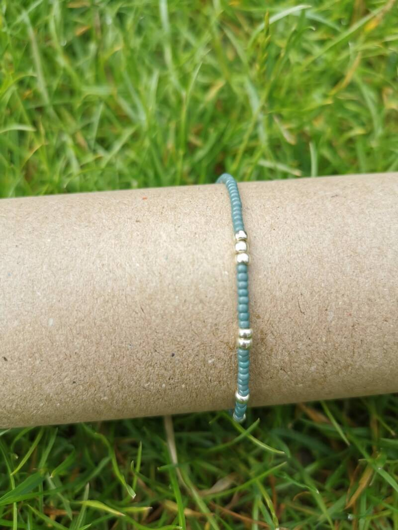 Rocaille armbandje - turquoise / zilver