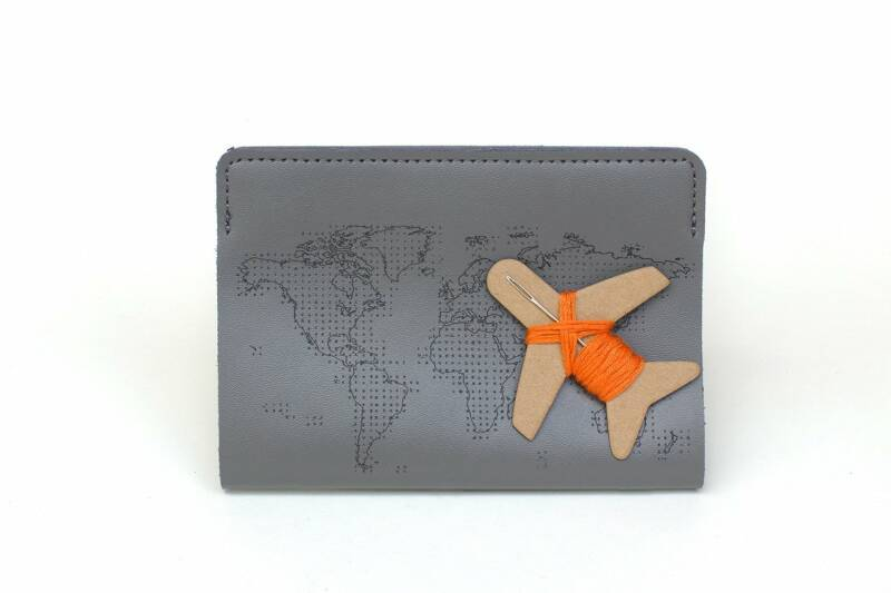 Chasing Threads - Stitch Pasport Cover - Grey