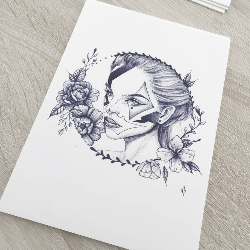 Missy DB - Chicano Lady A5 Print (reproductie)