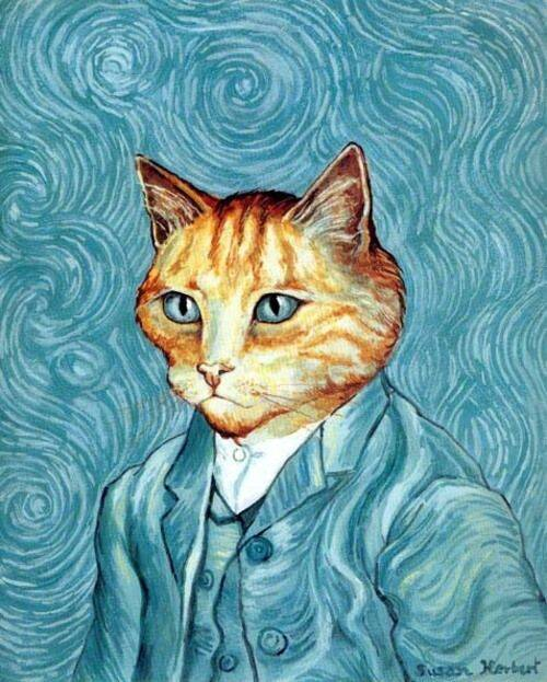 Cat van Gogh catnip pillow