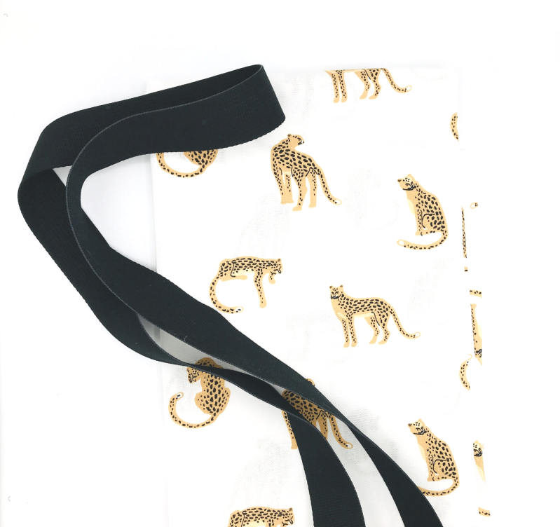 Pussolini™ canvastas XL: luipaard wit