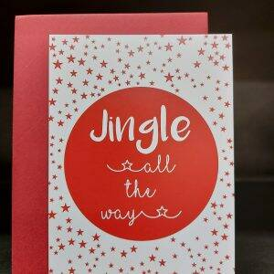 Ansichtkaart - Jingle all the way