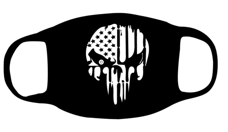 Punisher Skull with Thin White Line Face Mask