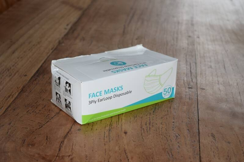 Face mask 3ply earloop disposable