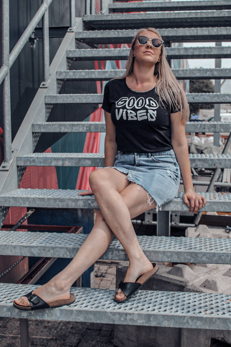 T-shirt adult good vibes ABC Be cool