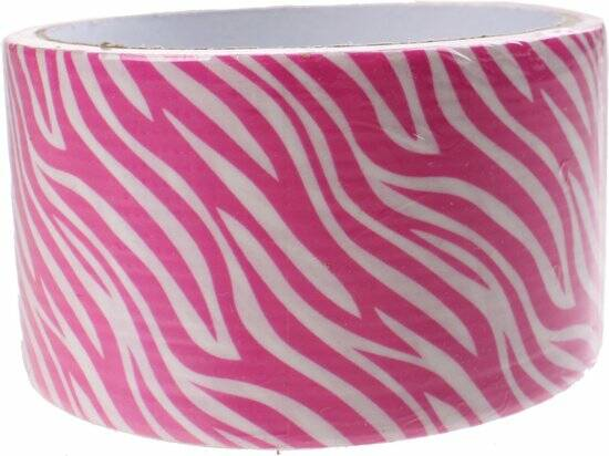 Free And Easy Tape Zebra 5 Meter 48 Mm Roze