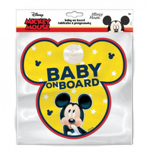 Autobord Mickey Mouse Baby on Board 13 cm