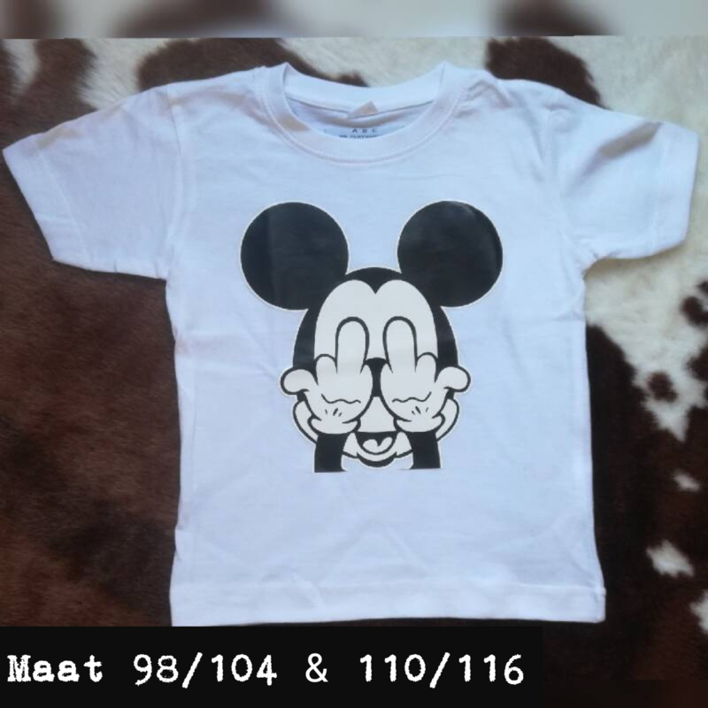 Wit t-shirt - mickey mouse