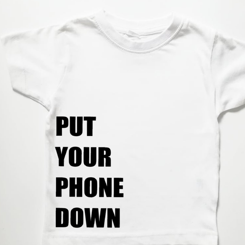 t-shirt - put your phone down