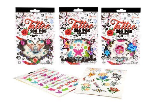 Toi Toys Tattoo stickerboekje 280 tattoo's