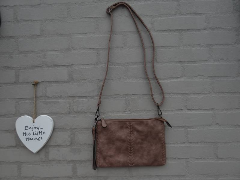 Tas/clutch design taupe