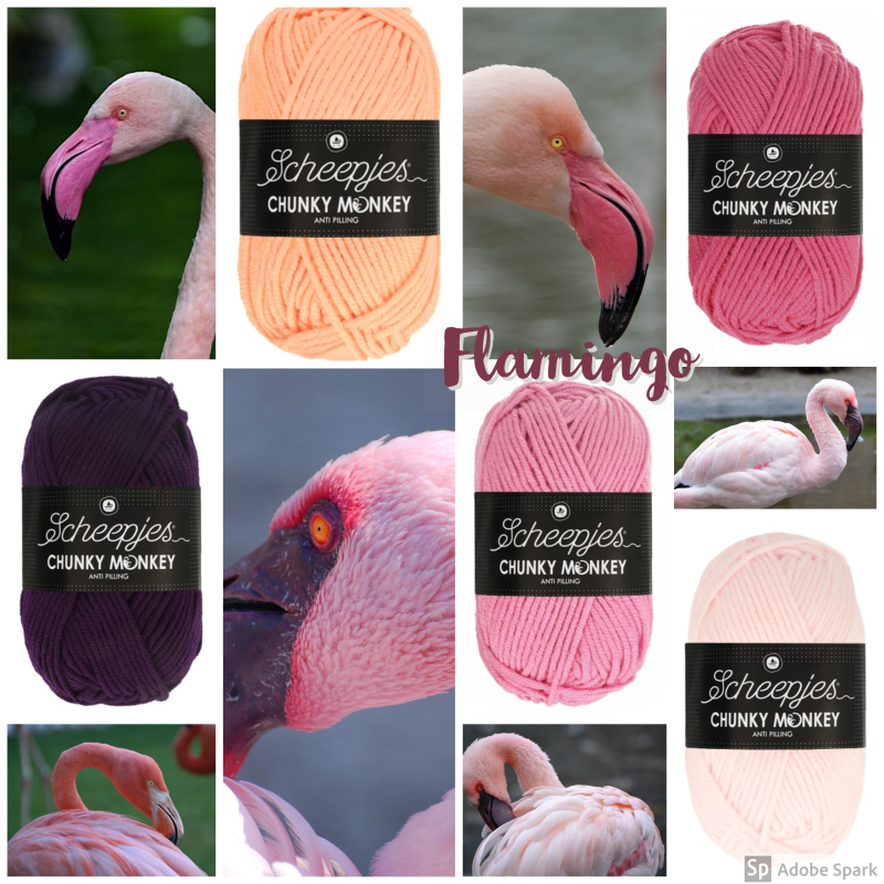 Pakket Scheepjes Chunky Monkey of Colour Crafter 'Flamingo'