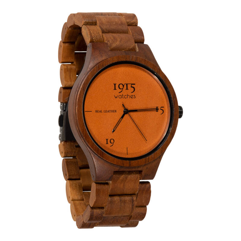 1915 watch men real leather cognac RL01