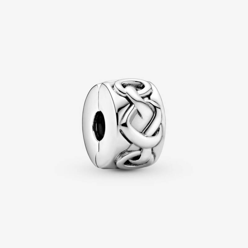Pandora Clips Knotted Hearts 798035