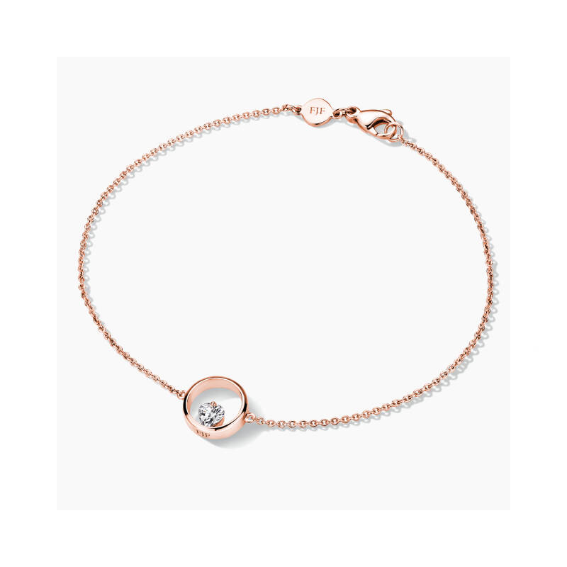 FJF Armband Icon Heart Rosegold/White FJF0050001RWH