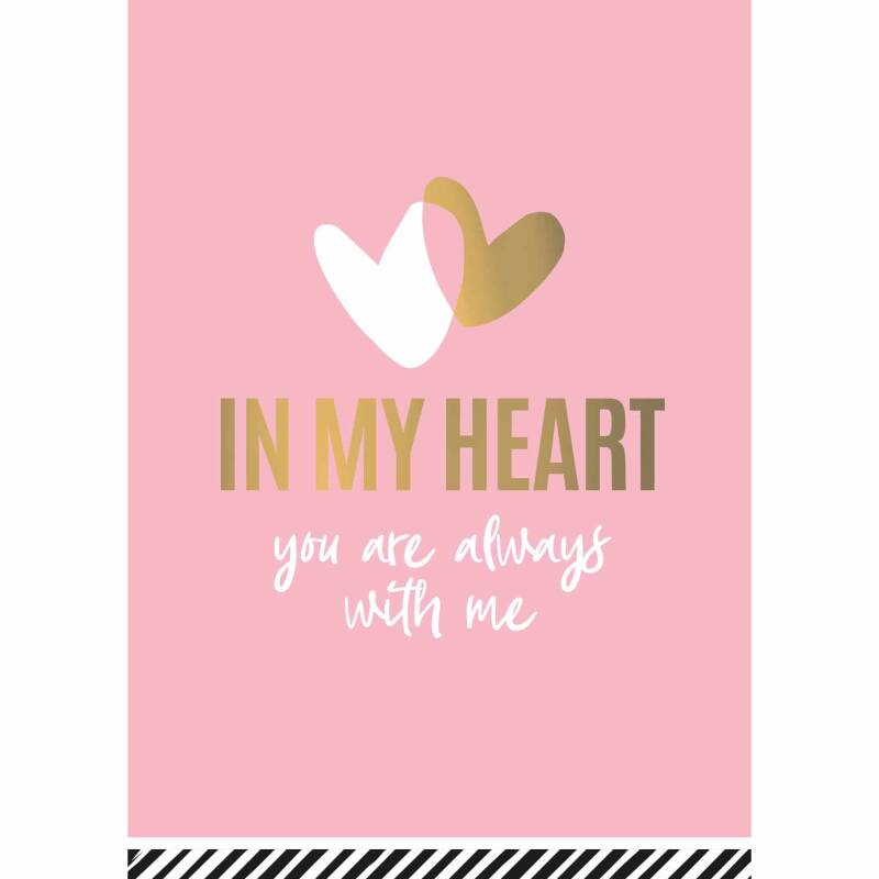 Kaart In my heart You are always with me