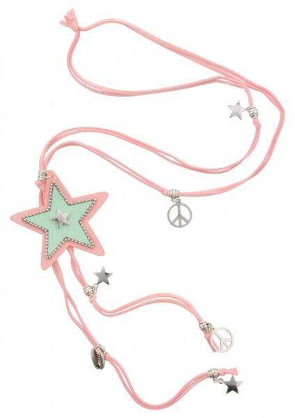 Ketting ster roze
