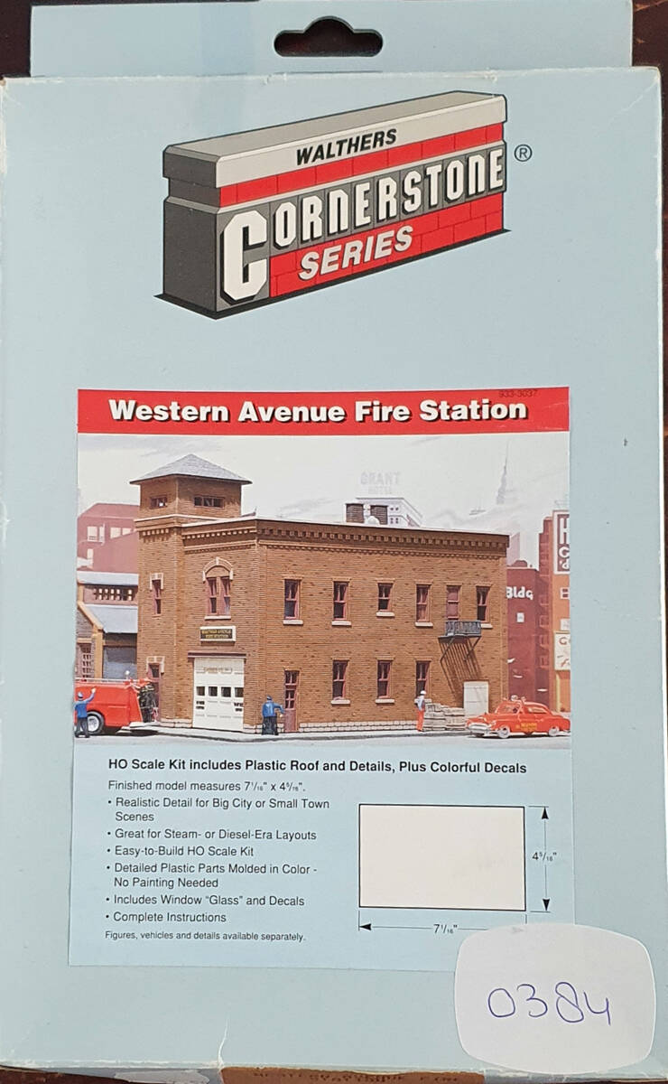 Walthers - Western Avenue Fire Station *USA* (0384)