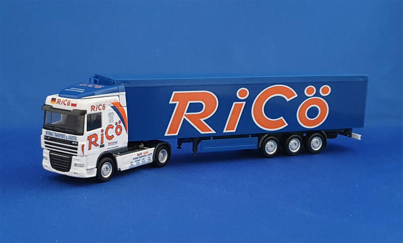 "HERPA 154673 - DAF XF105 SC  - Walking Floor ""RiCö"" (1446)"