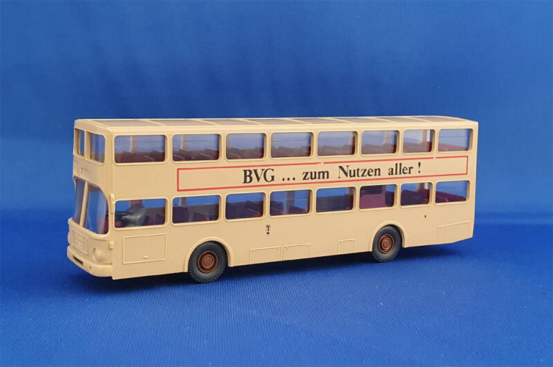 "Wiking  730 - MAN SD 200 Doppeldeckerbus ""BVG"" (1545)"