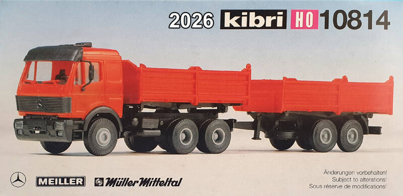 Kibri 10814 - MB Kipper-combinatie (2026)