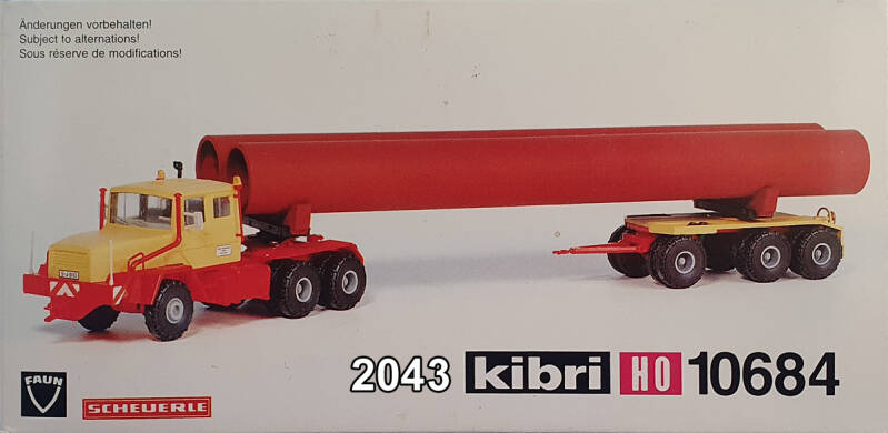 "Kibri 10684 - Faun met Scheurle dolly ""lengtetransport"" (2043)"