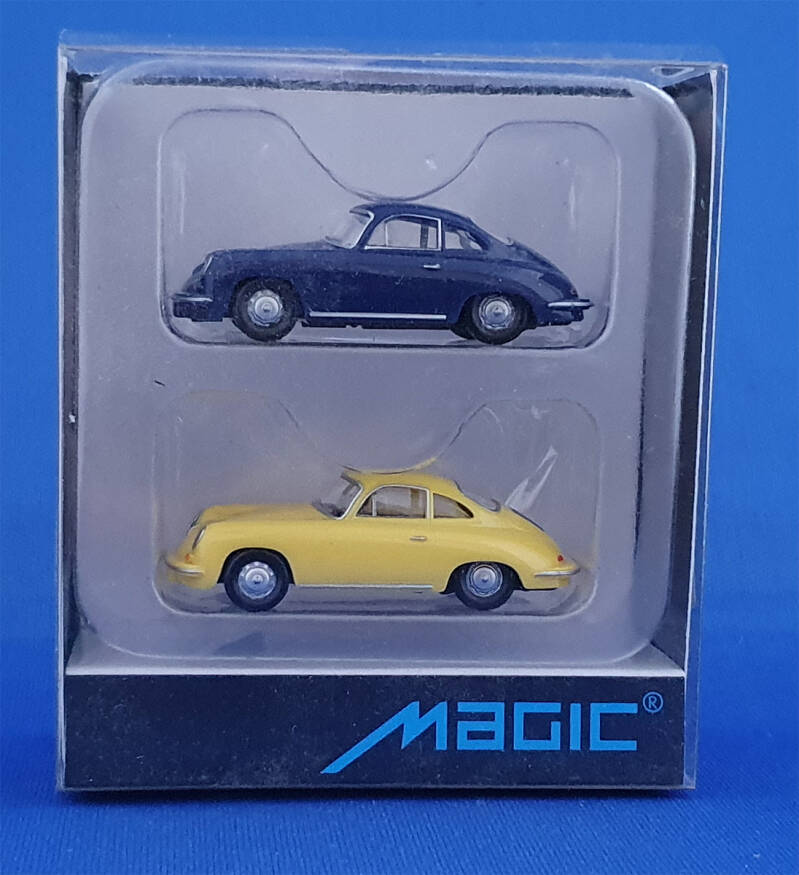 Herpa Magic - Porsche 356C, Set met 2 Porsche (9460)