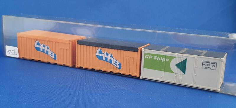 Set containers 3x 20ft (4386)