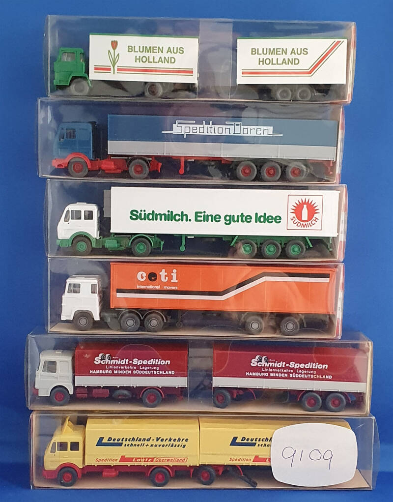 "Wiking set 6 x Truck ""Opruiming"" (9109)"