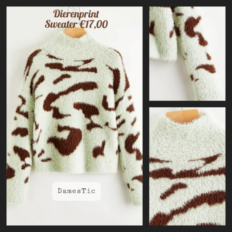 Fluffy sweatshirt dierenprint