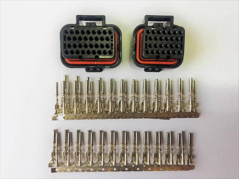 M2000/M6000/DTAS60/80/100   common connector set (34 + 26 pins, 2 plugs, keyway ID 1)