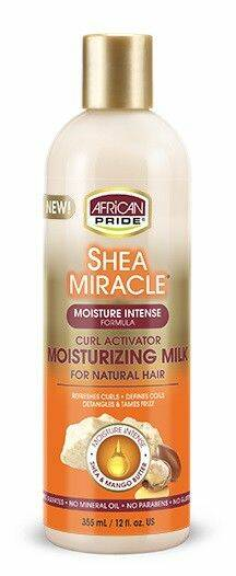 African Pride Shea Miracle Curl Activator Moisturizing Milk 12oz.