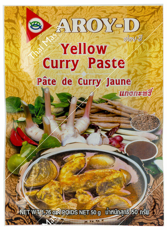 Aroy-D Yellow Curry Paste 50 gr