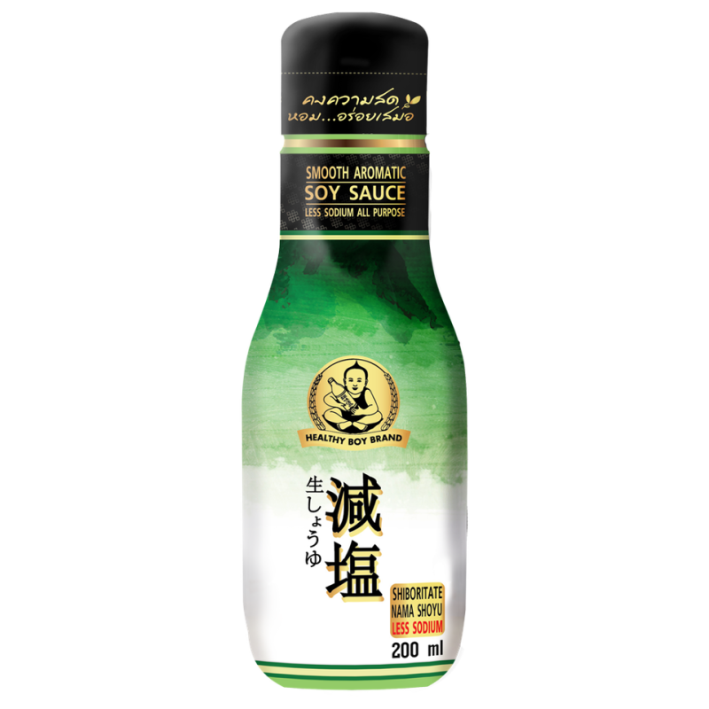 Healthy Boy Brand Smooth Aromatic Soy Sauce Less Sodium 200 ml
