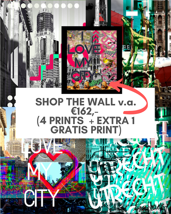 SHOP THE DEAL! 4 ART PRINTS met 10% kortig + 1 EXTRA GRATIS PRINT