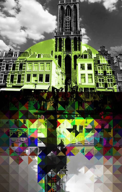 Nieuw UTRECHT YELLOW DOM CITY | 60x40cm ART Photo Print