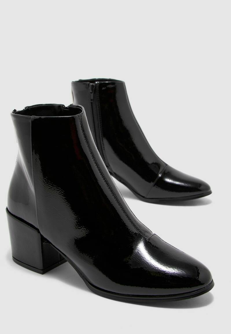 ONLY zip patend lak boot