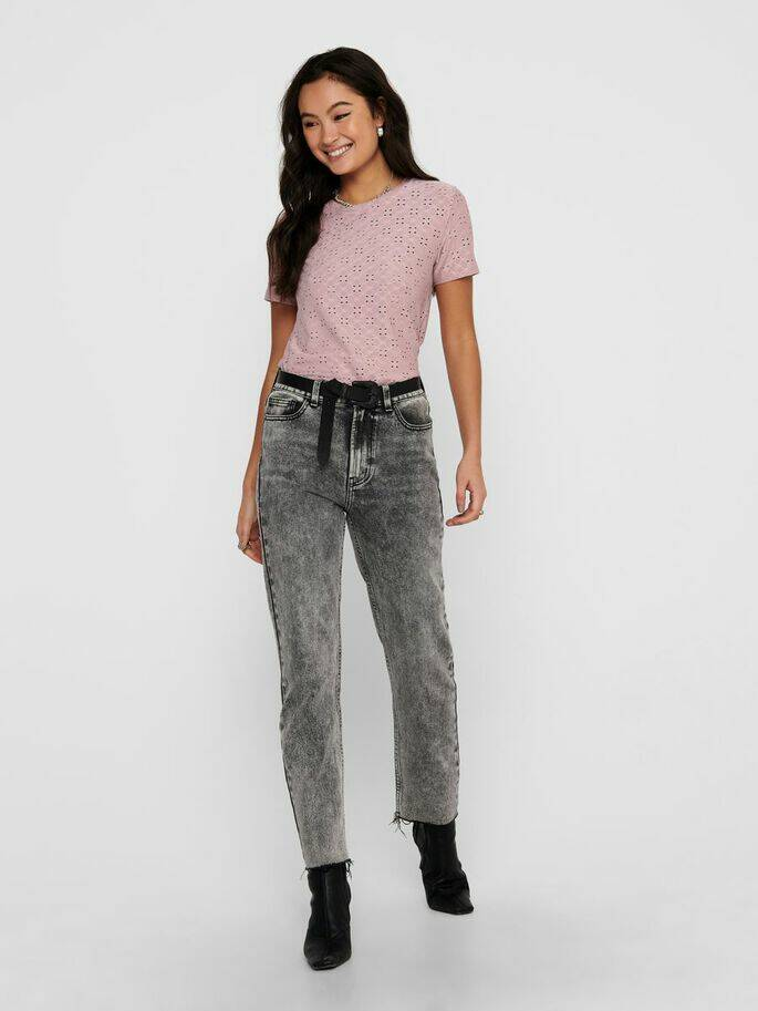 Emily Highwaist Acid Raw Ankle Jeans