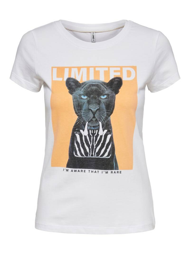 ONLY Vibe Life Fit S/S Animal Top