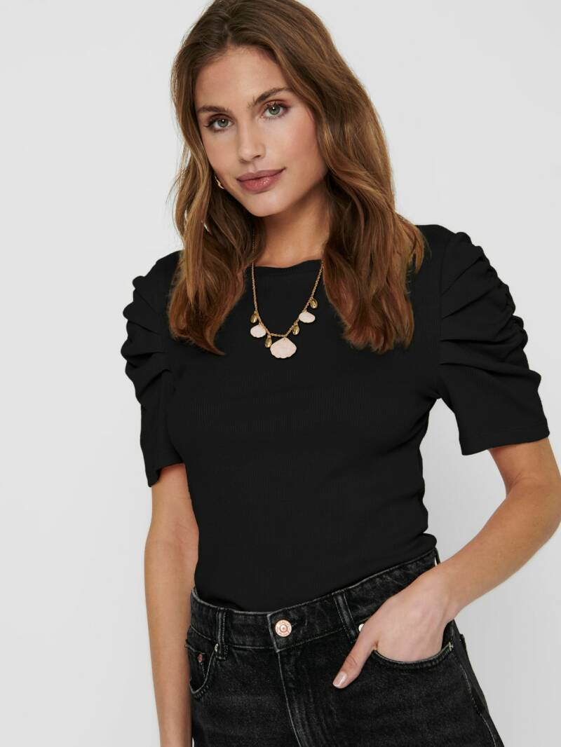 ONLY Elly Gathering Top Black