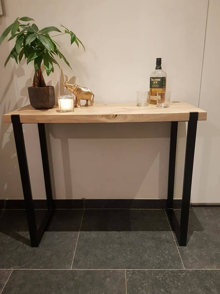 sidetable onderstel in vol staal