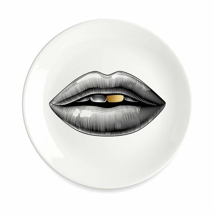 WALL Plate white with lip