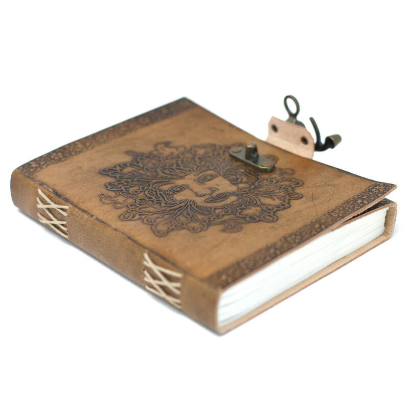 Leather Greenman Notebook