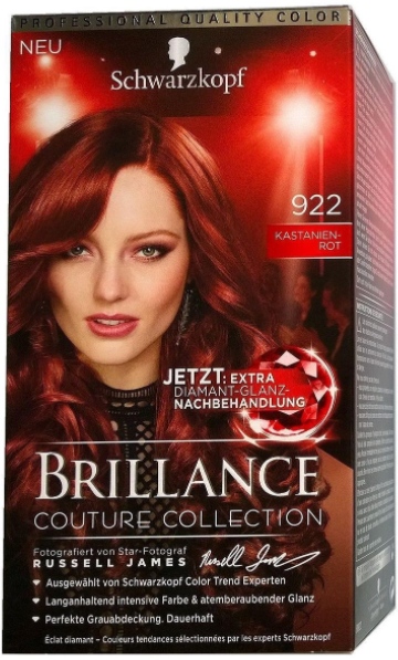 SCHWARZKOPF Coloration Brillance 922 KASTANIEN ROT