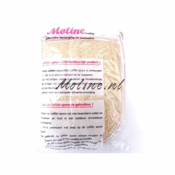 Moline Loofah spons 100% natuurproduct – one face