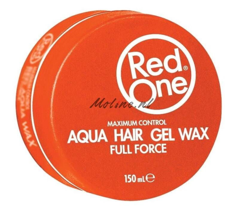 Redone aqua hair gelwax full force – Oranje 150ml