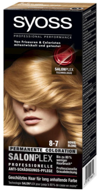 Syoss Salonplex Permanent Coloration 8-7 honing blond