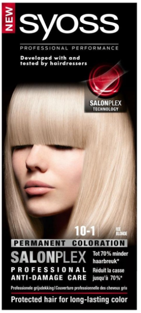 Syoss Salonplex Permanent Coloration 10-1 Ice Blonde