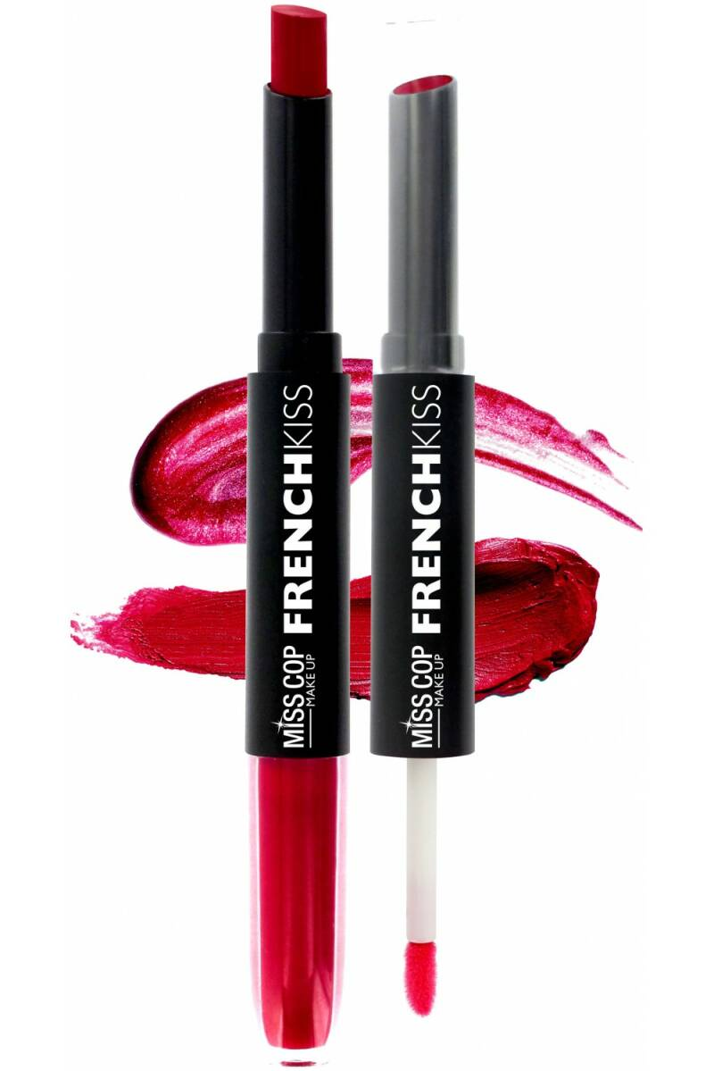 Miss Cop FRENCH KISS Duo Gloss & Lipstick – 02 Framboise